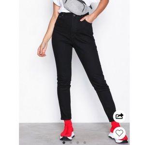 Cheap Monday | Donna Deep Black High Rise Jeans
